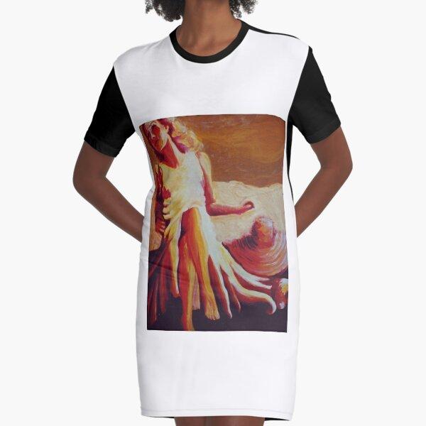 Baking in the Sun Graphic T-Shirt Dress