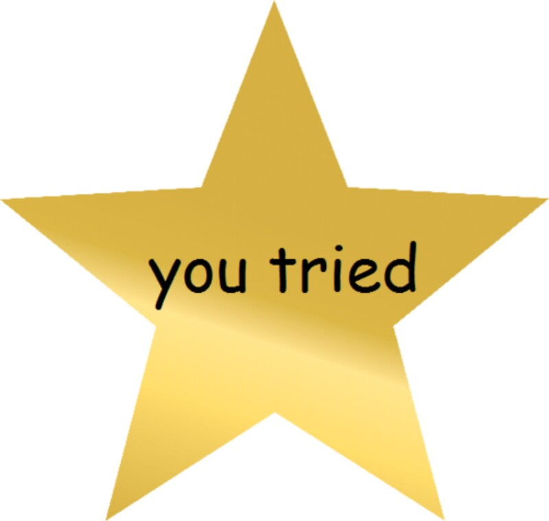 You Tried Gold Star Award by lolhammer