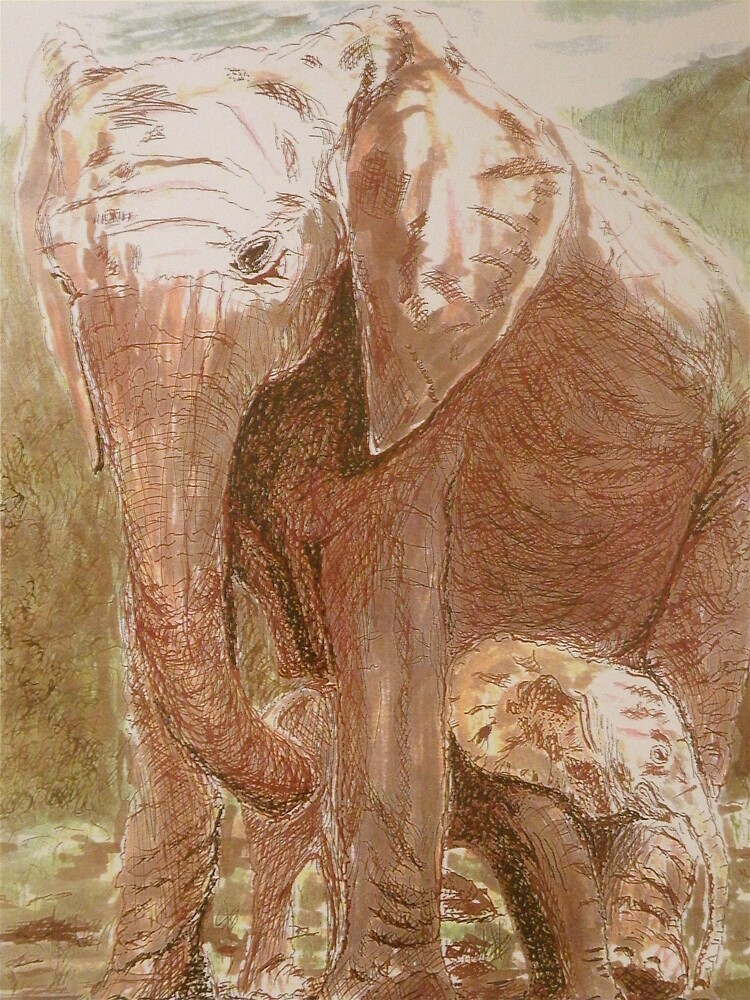 Mother & Baby by Bonnie Pelton by Bonnie Pelton