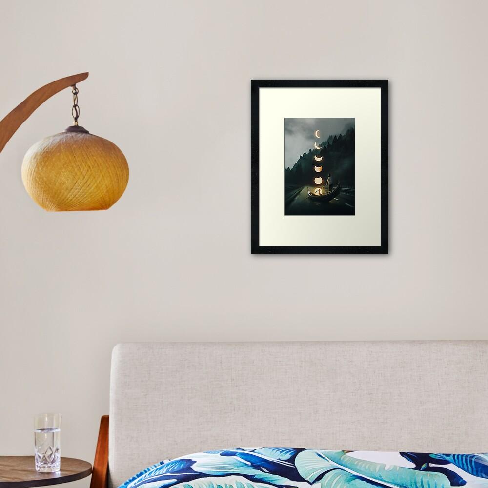 Moon Ride Framed Art Print