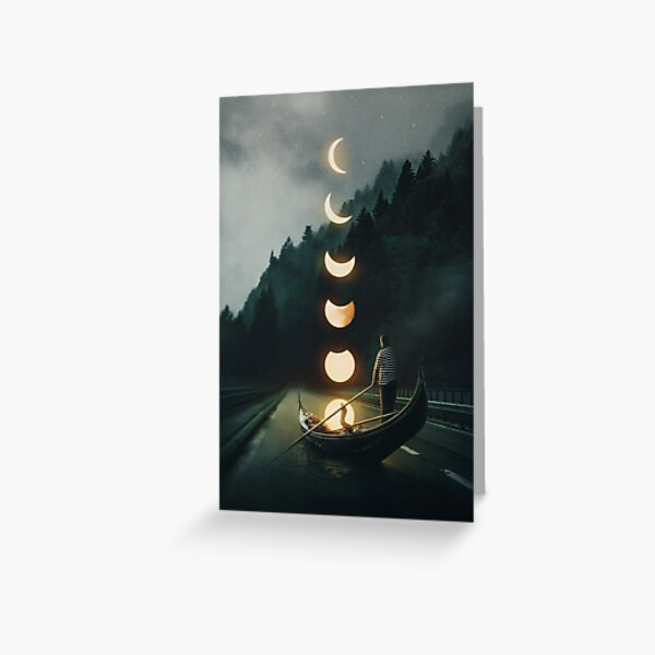 Moon Ride Greeting Card