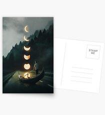 Mondfahrt Postkarten