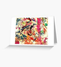 Funky Colours Greeting Card