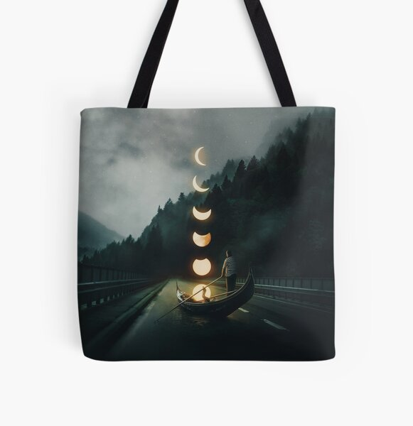 Moon Ride All Over Print Tote Bag