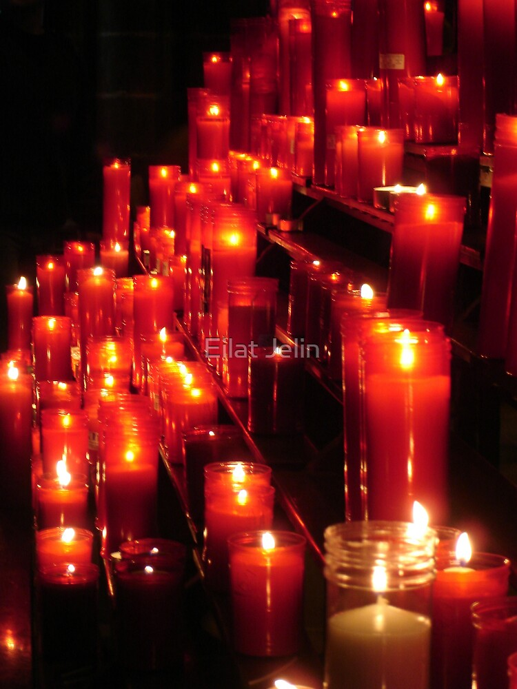 Red Candles by Eilat Jelin