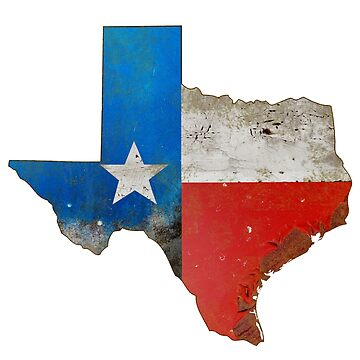 Rusty Texas Metal Sign by oz10