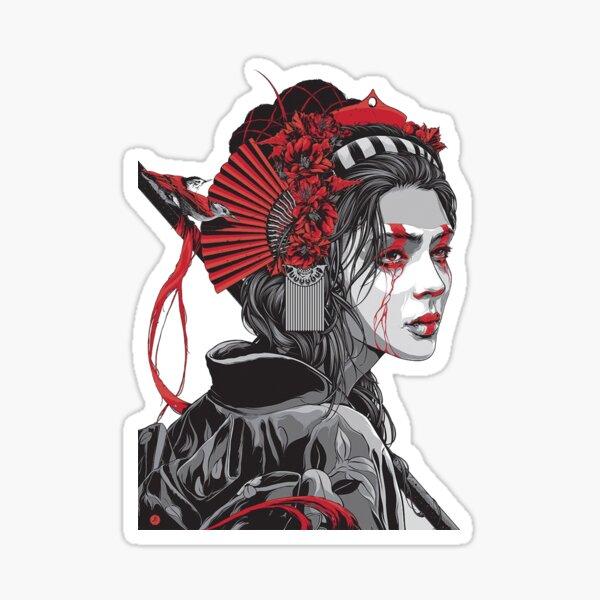 Female Samurai Sticker