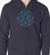 Code Mandala - React Framework Zipped Hoodie