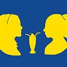 Milkshake Silhouette (V+B   Yellow) by 4everYA