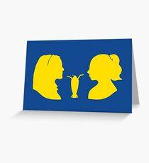 Milkshake Silhouette (V+B | Yellow) Greeting Card