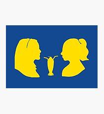 Milkshake Silhouette (V+B | Yellow) Photographic Print