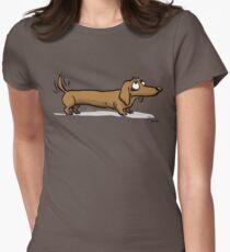 CORNIBUS DACKEL Tailliertes T-Shirt für Frauen