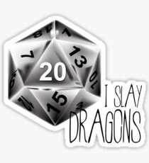 Dungeons and dragons - I slay dragons Sticker