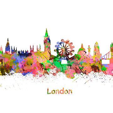 London Watercolor  skyline by chris2766
