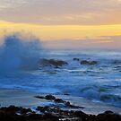 Crashing Waves at Sunset by Annie Underwood