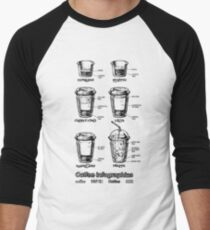 Coffee infographics set  Men's Baseball ¾ T-Shirt