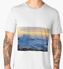 Crashing Waves at Sunset Men's Premium T-Shirt