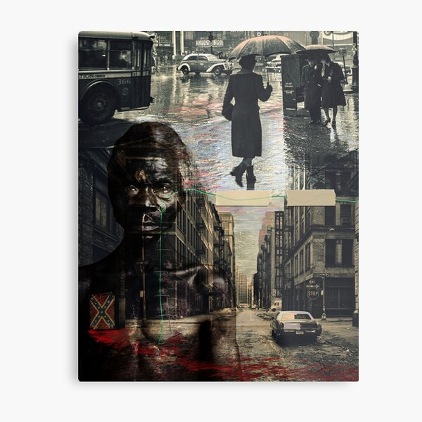 Patched city Metal Print