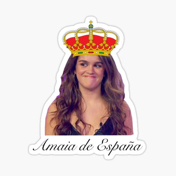 Versión de nombre de Amaia Romero de España (OT) Pegatina