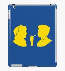 Milkshake Silhouette (J+A | Yellow) iPad Case/Skin