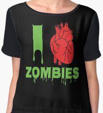 I Heart Zombies Design | Zombie  Chiffon Top