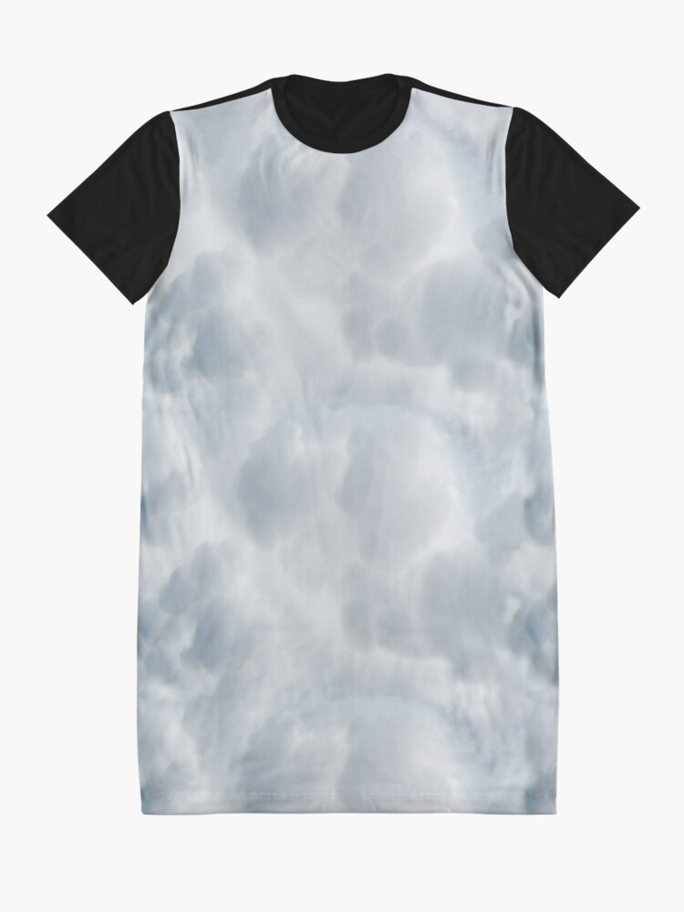 Alternate view of Fluffy Cotton Feel Cloud - Repeat Pattern Graphic T-Shirt Dress