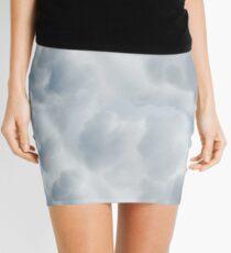 Fluffy Cotton Feel Cloud - Repeat Pattern Mini Skirt