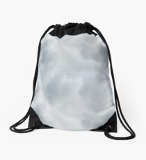 Fluffy Cotton Feel Cloud - Repeat Pattern Drawstring Bag