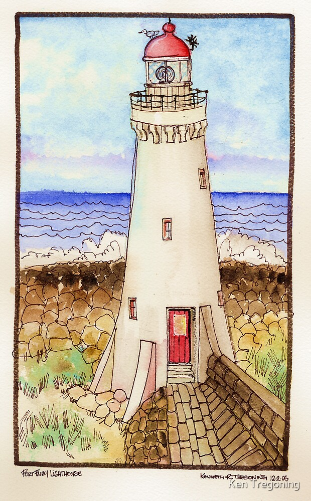 Port Fairy Lighthouse by Ken Tregoning