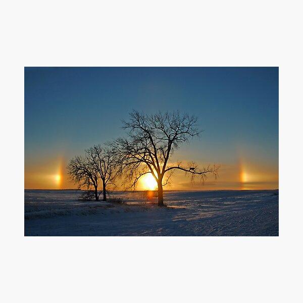 Sundogs at Sundown (Parhelia) Photographic Print