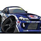 S15 200SX Drift Cartoon by ToonMyRide