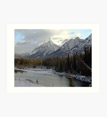 Early winter snowfall, Banff National Park Art Print