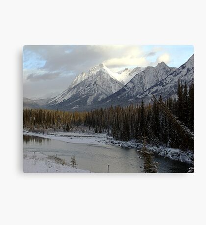 Early winter snowfall, Banff National Park Canvas Print
