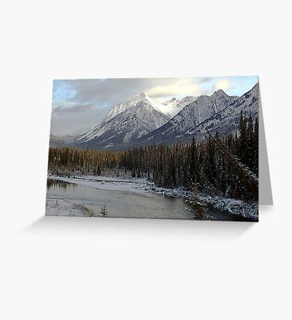 Early winter snowfall, Banff National Park Greeting Card
