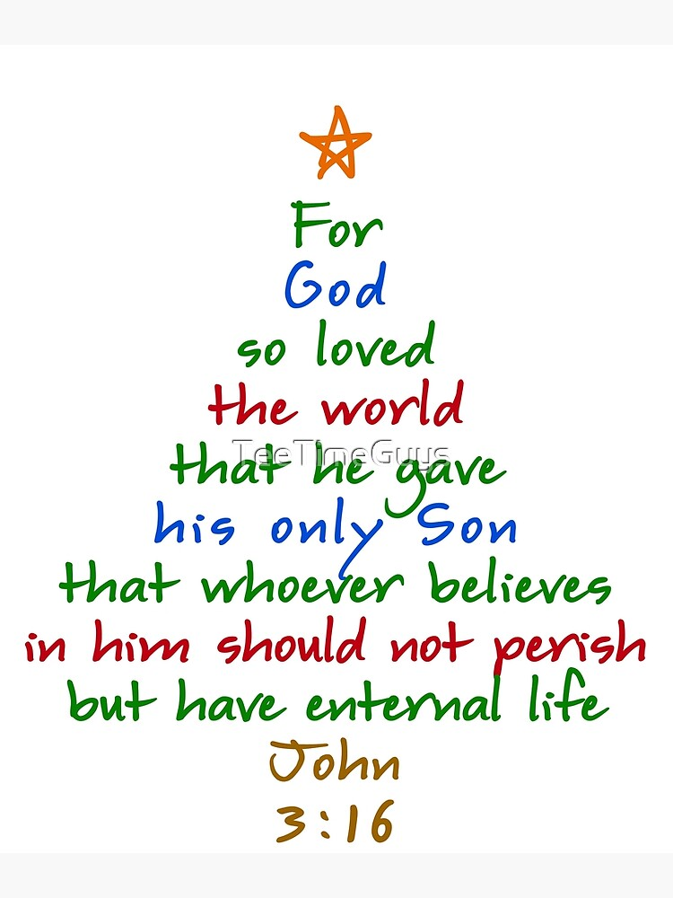For God So Loved The World Bible Verse Christmas Tree
