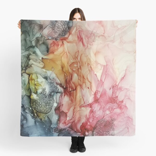 Merging Thoughts, Abstract Painting Scarf