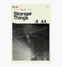 Segunda temporada Stranger things Photographic Print