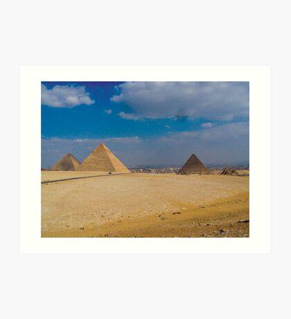 The Three Pyramids Art Print