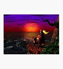 Donkey Kong Sunset Photographic Print