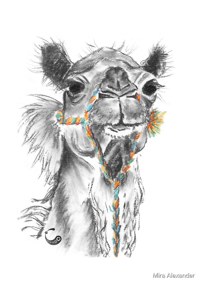 Dromedar (Sticker) - Charcoal Animals von Mira Alexander