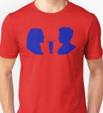 Milkshake Silhouette (V+A   Blue) Unisex T-Shirt
