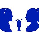 Milkshake Silhouette (V+B   Blue) by 4everYA