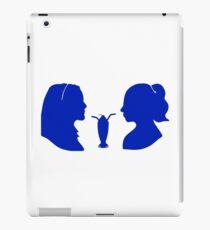 Milkshake Silhouette (V+B | Blue) iPad Case/Skin