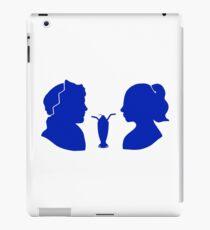 Milkshake Silhouette (J+B | Blue) iPad Case/Skin