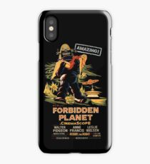 Forbidden Planet Poster iPhone Case/Skin