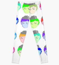 Karikatur-Gesichts-Pop-Illistration Leggings