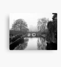 Foggy Morning In Cambridge V (BW) Canvas Print