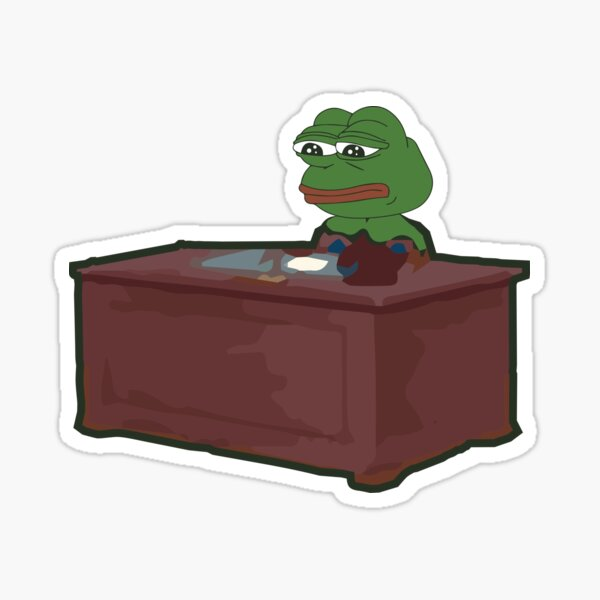 Working from home Pepe Sticker
