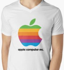 Apple Computers Inc Men's V-Neck T-Shirt