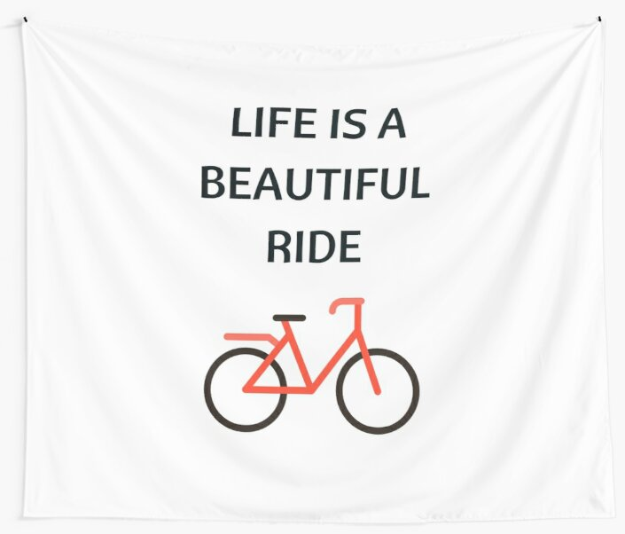 Bike Quotes Mesmerizing Bike Quotes Life Is A Beautiful Ride Wall Tapestries By